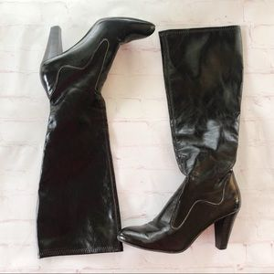 [Franco Sarto] fuel espresso  heeled tall boots